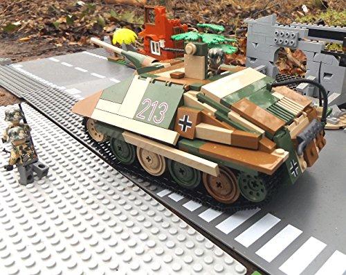 ✠ Modbrix 3001 – Bausteine Panzer Jagdpanzer 38 Hetzer inkl. custom Wehrmacht Soldaten aus original Lego© Teilen ✠ - 3