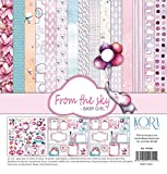 PAD (15) Papier (12 'X12') für Scrapbooking - From the sky - Baby Girl