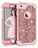 Casetego iPhone 6 Hülle,iPhone 6S Hülle, Luxury Glitter Sparkle Bling Heavy Duty Hybrid Sturdy Armor Defender High Impact Shockproof Protective Cover Case for Apple iPhone 6/6S,Rose Gold