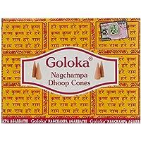 Goloka Nag Champa Raeucherkegel Grosspackung 12 x 10 Kegel preisvergleich bei billige-tabletten.eu