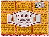 Goloka Nag Champa Raeucherkegel Grosspackung 12 x 10 Kegel