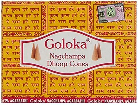 Goloka Nag Champa Cones x 12 Packs
