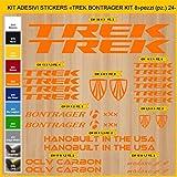 Adesivi Bici TREK BONTRAGER_kit 8_ Kit adesivi stickers 24 Pezzi -SCEGLI SUBITO COLORE- bike cycle pegatina Cod.0903 (035 ARANCIONE)