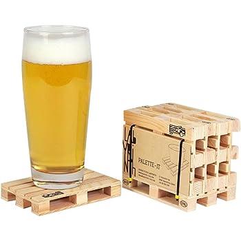 Design Studio Labyrinth BCN Palette-It Euro mini wooden Pallet Coasters (Pack of 5) Drink Coasters Set of 5