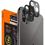 Spigen, 2-pack, iPhone 11 Pro/iPhone 11 Pro Max kameralinsskydd svart, 9H hårdhet, fodralvänlig, repfri, svart härdat glas iP