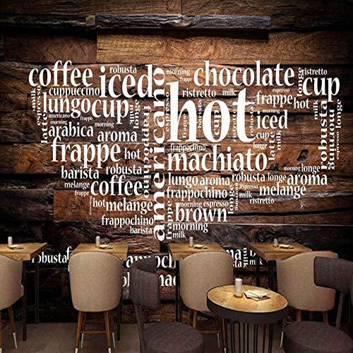 European Cafe (Tapete 3d European American Holz Café Hintergrund Wandbild Restaurant Bar Studio benutzerdefinierte Wallpaper 430x300cm)