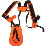 PIXNOR arnés para ambos hombros para usar con la desbrozadora de césped o la podadora (naranja)