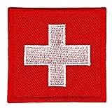 Flagge Schweiz Aufnäher Bügelbild