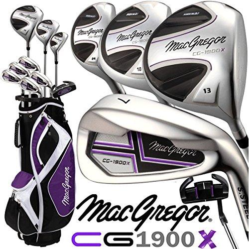 MacGregor CG-1900X Kit de golf pour femme avec sac chariot Haut lancement