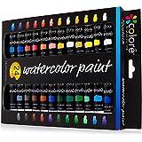 Juego de Acuarelas Colore – Kit Premium para Artistas, Estudiantes y Principiantes – Perfecto para Pinturas de Paisajes y Retratos en Canvas – 24 Colores de Acuarelas Espléndidamente Pigmentadas