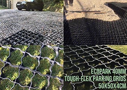 Abri de jardin Base Grille 3 m convient pour 2,5 x 2,5 m 10 x 8 Abris ou les serres = Kit complet Eco + MEMBRANE très résistante – Grilles en plastique Eco & Bases Allée Dalles de pavage