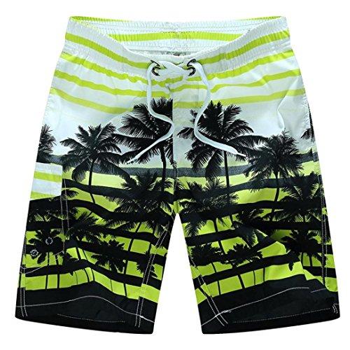 Kanpola Herren Badeshorts Kurze Schnell Trockend Bedruckte Boardshorts Sommer Strand Shorts