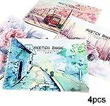 Papierkunstbuch, handgemaltes Skizzenbuch des Skizzenbuches A4 der chinesischen Art des Aquarells des chinesischen Artfreien raumes Skizzenbuch