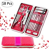Fixget 18 Pcs Nail Clippers Set Pedicure Kit Stainless Steel Nail Clipper ,Professional
