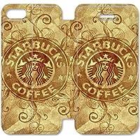 Funda iPhone 6 6S Plus 5.5 Inch Wallet Leather Case,Eartha Dolores Shop [Starbucks Coffee Logo Wide] 2N6RO