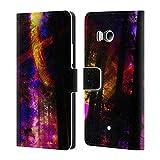 Head Case Designs Offizielle Haroulita Saturn-Blitz Raum Brieftasche Handyhülle aus Leder für HTC U11 / Dual