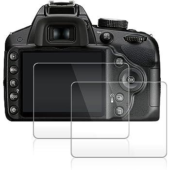 Pellicola Protettiva per Nikon D3300 D3400 D3200 D3100, AFUNTA 2 Antigraffio Pellicola Vetro Temperato Screen Protectors per Nikon D3300
