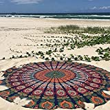 raajsee Ronda Toalla de Playa, Boho Manta Hippie Tapiz algodón Mantel Meditación Yoga Mat Alfombra...