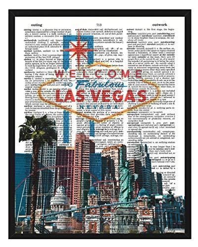 Signature Studios Las Vegas Strip Foto Wörterbuch Kunstdruck Wand Dekor 8x 10