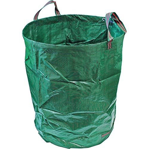 CampTeck 300 Liter Gartensäcke Polypropylen-Gewebe Gartenabfallsäck Wiederverwendbar Laubsack Faltbar Abfallsack