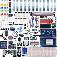 UNIROI Arduino Mega 2560Kit con Tutorial per Arduino Uno Nano, con fiamma sensore, 5V modulo relè scheda, resistenza (Articolo 242) ua003