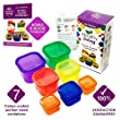 Healthy Living 7 Piece Portion Control Containers Kit with COMPLETE GUIDE, Multi-Colored Coded System, 100% Leak Proof - Comparable to 21 Day Fix!