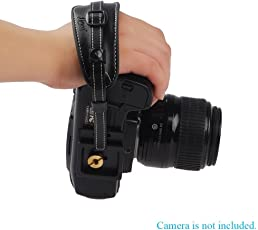 Shopee Lynca Professional DSLR Camera Leather Wrist Strap Hand GrIP With Metal Quick Release Plate