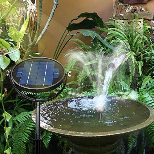 Clevoers Fontaine Solaire, Circulaire Pompe à Eau Solaire Jardin Autoportant Panneau Solaire Kit Pompe à Eau Pompe Extérieure Arrosage pour Jardin, étang, Piscine, Aquarium 3W