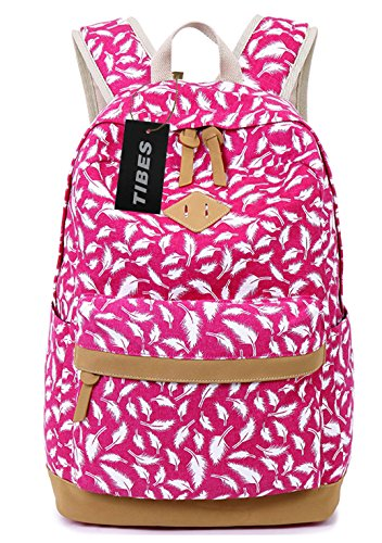 tibes-fashion-printed-canvas-backpack-for-women-rose-pink