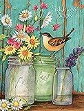 Lang Fleur bocaux Carnet d'adresses par Susan Winget, 19,2x 21,6cm (1013239)