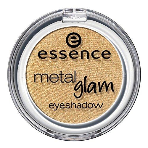 Essence metal Glam eyeshadow, Ombre à paupières avec texture métallique pour un effet intense brillant de couleur n°16 Golden honey bee, 2.7 g, 0.09 oz.