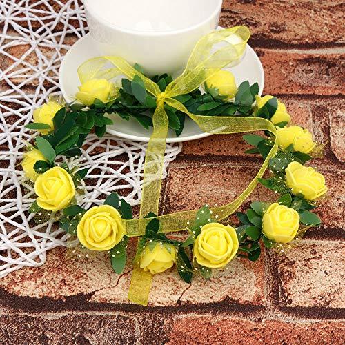 Bazhahei Accesorios Para El Cabello 12 Flower Handmade Garland Wedding Accessories Tiara Hair Accessories Headband Flor Corona Diadema Floral Hairband Festival Boda Accesorios Tocado