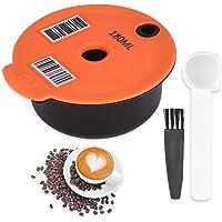 Capsule de Café Réutilisable Rechargeablesde Café Dosettes de Filtre pour Bosch-s Tassimo avec Brosse de Nettoyage…