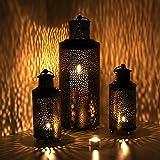 albena shop 73-138 Faro orientalisches Windlicht Laterne Metall (3er-Set: 2X S + 1x L)