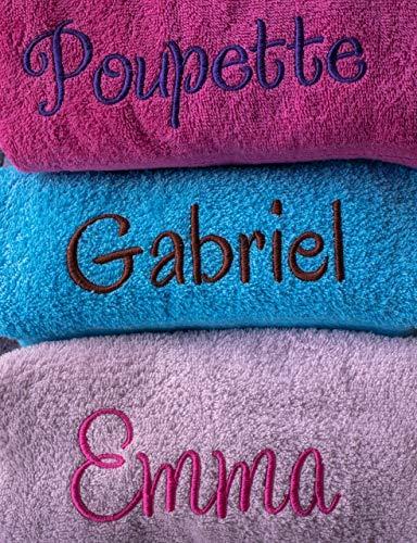 Linge éponge personnalisé, 100% coton, 500g/m², drap de bain avec prénom, cadeau personnalisé, cadeau prénom, cadeau naissance, cadeau anniversaire, cadeau noël personnalisé