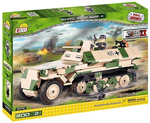 Cobi 2472 - SD KFZ 251/10 Ausführung C, Konstruktionsspielzeug, grün/beige