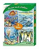 Malen Nach Zahlen 4er Set, Meeresrauschen, je Circa 22, 4 x 30, 3 cm