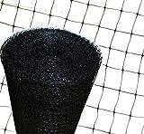 Construido con red de aislamiento de color 50 m de largo x 2 m, (100 m2) soporte de fibra de vidrio para colcha de lana mineral, color negro