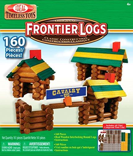 ideal-160-piece-frontier-logs-classic-wood-building-set