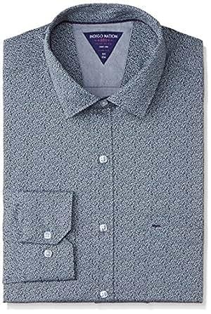 Indigo Nation Men's Dress Shirt (8907372378473_1ISE1992_Blue_39)