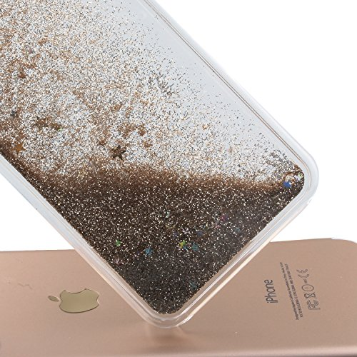 Custodia per iPhone 7 Case,Cover per iPhone 7,TOYYM - Love Heart Star Crystal Case Cover, Resistente Chiaro Trasparente [Bling Liquid] con divertente liquido flottante 3D con lussiosi glitter per iPho Color 28#