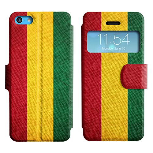 Graphic4You Vintage Uralt Flagge Von Mexiko Mexikanisch Design Leder Schützende Display-Klappe Brieftasche Hülle Case Tasche Schutzhülle für Apple iPhone 5C Bolivien Bolivianer