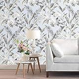 Juman634 Vintage Etiqueta de la Pared Hoja Flor Textura no Tejido Wallpaper para Sala de Estar Dormitorio decoración de Fondo 0.53 10M