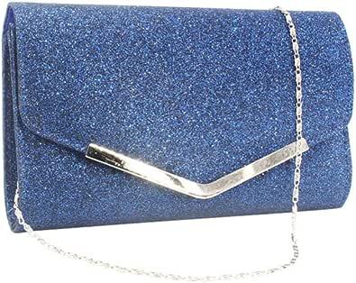 Lurrose Abend Tasche Handtasche Hochzeit Party Umhängetaschen Clutch Tasche Geldbörse Einfache Kette Tasche für Frauen Damen (Schwarz)