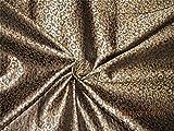 TheFabricFactory Wende Brokat-Stoff schwarz X Gold Farbe 111,8cm bro575[5]