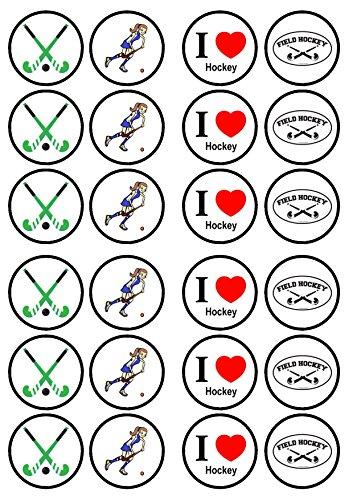 Hockey, Essbare PREMIUM Dicke GEZUCKERTE Vanille, Wafer Reispapier Cupcake Toppers/Dekorationen
