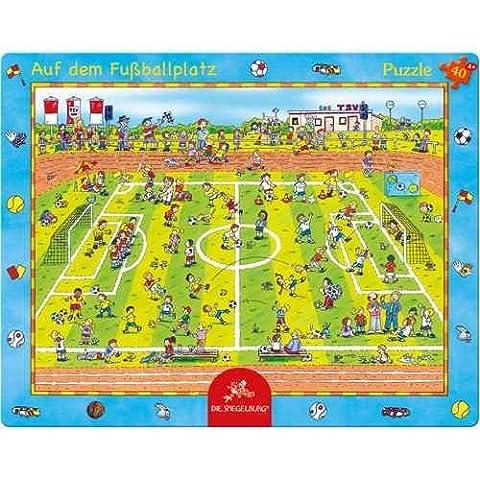 20970 - Die Spiegelburg - Rahmenpuzzle: Auf dem Fußballplatz, 40 Teile, 40 Teile