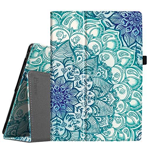 Fintie Lenovo Tab4 10 / Tab4 10 Plus Hülle - Folio Kunstleder Schutzhülle Tasche Etui Case mit Auto Schlaf/Wach Funktion für Lenovo Tab 4 10 / Tab 4 10 Plus (10 Zoll) Tablet-PC, Smaragdblau