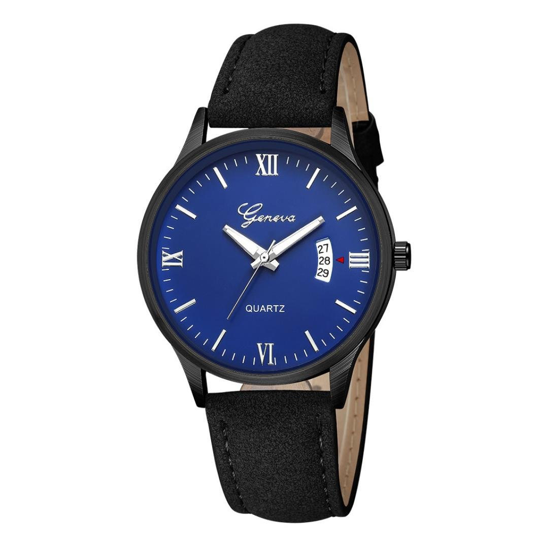 Mens Watches Sale ClearanceMens WatchesLuxury Military Mens Date Stainless Steel Leather Analog Quartz Wrist Watches E