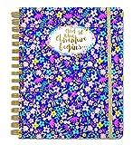 """Rachel Ellen Designs Notizbuch mit Spiralbindung, Aufschrift """"And So The Adventure Begins"""", größer als A5, liniert, mit goldfarbenem Folieneinband"""